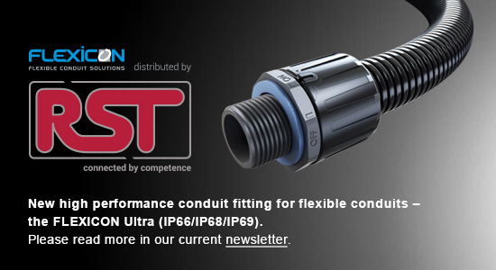 New high performance conduit fitting for flexible conduits - the FLEXICON Ultra (IP66/IP68/IP69).